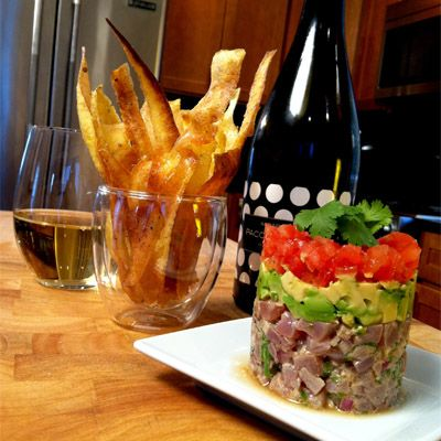 Ahi Tuna Ceviche with Fried Plantain Chips | Recipe