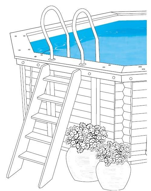 Wooden Above Ground Steps Landscape Pool Decks Pinterest