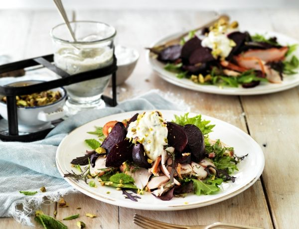 Middle Eastern Smoked Chicken and Beetroot Salad | Recipe