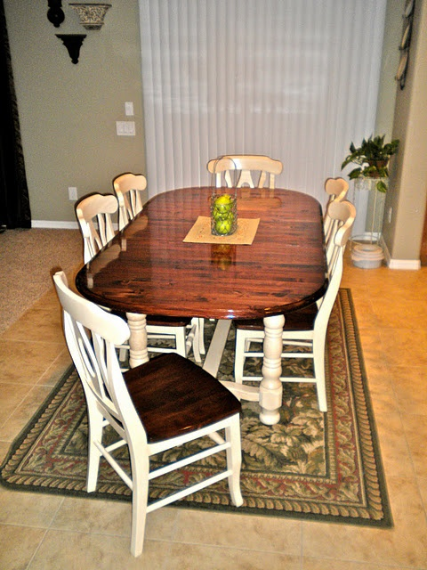 Chairs refinishing dining table pinterest for How to redo dining room chairs