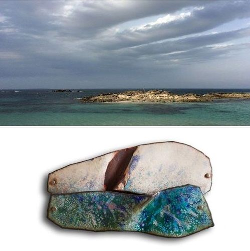 Montserrat Lacomba - 'Broken cloud' brooch from the Dreamed landscapes serie