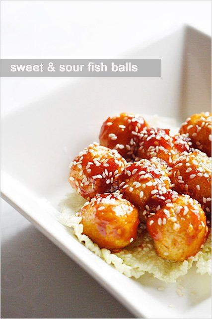 Sweet and Sour Fish Balls Recipe - Sweet and sour fish balls are very ...