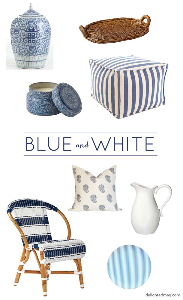 Delighted Magazine: Home Finds: Blue and White