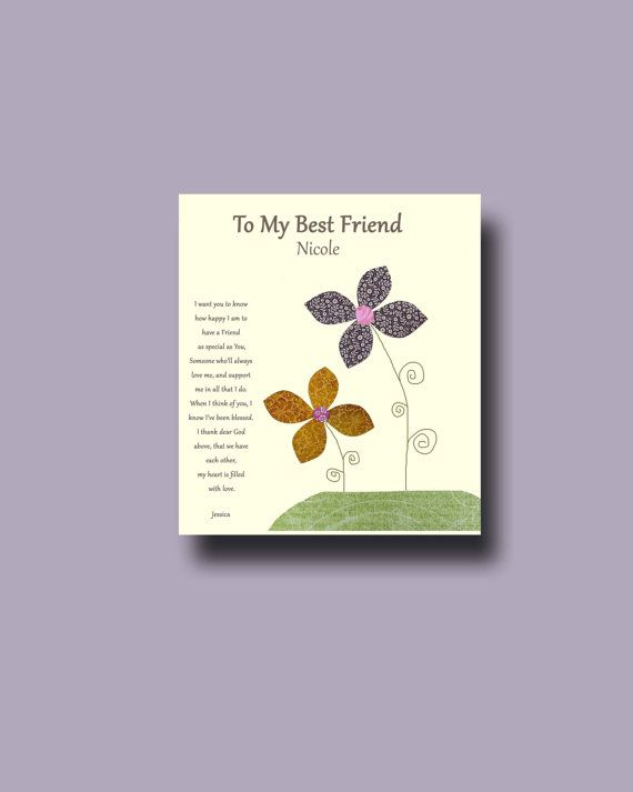 Wedding Gift For Special Friend : ... Friend GiftPersonalized Gift for Special Friend, Wedding Gift