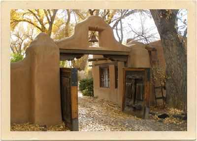 gate to the mabel dodge luhan house in taos new mexico. Cars Review. Best American Auto & Cars Review