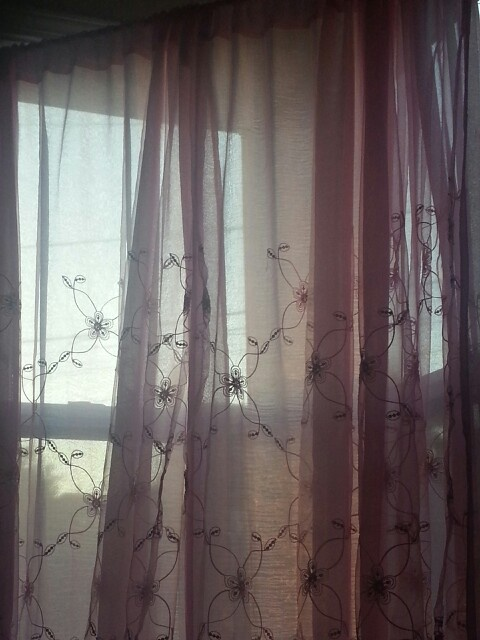 Sheer pink embroidered flower curtains home deco pinterest