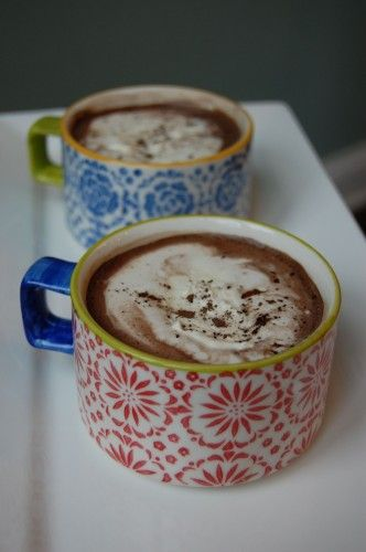 home made hot cocoa - she uses real maple syrup. I use much more cocoa ...
