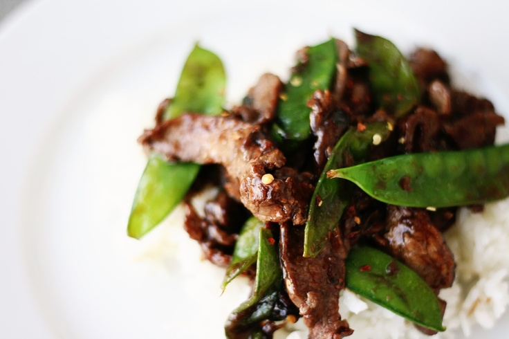 Asian Beef with Snow Peas | Beef | Pinterest
