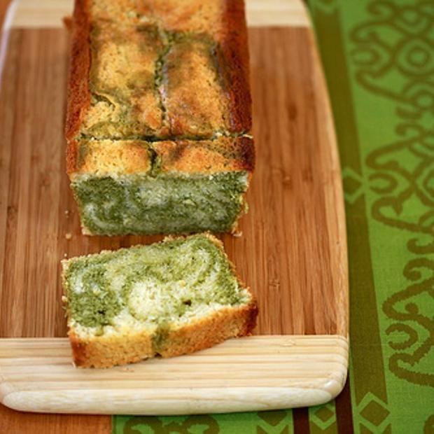 Lemon And Matcha Marble Pound Cake | Cake recipes | Pinterest