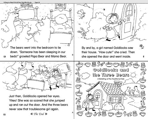 ... goldilocks and three bears coloring pages goldilocks and three bears
