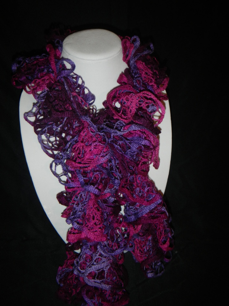 crocheted spiral scarf Crochet and knit Pinterest
