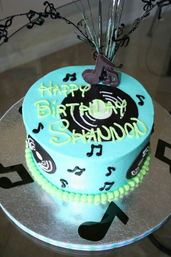 Birthday Cake Ideas Music : Music birthday cake Cakes Pinterest