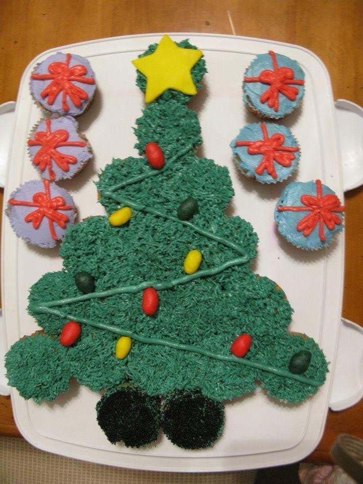 christmas tree cupcake cakes