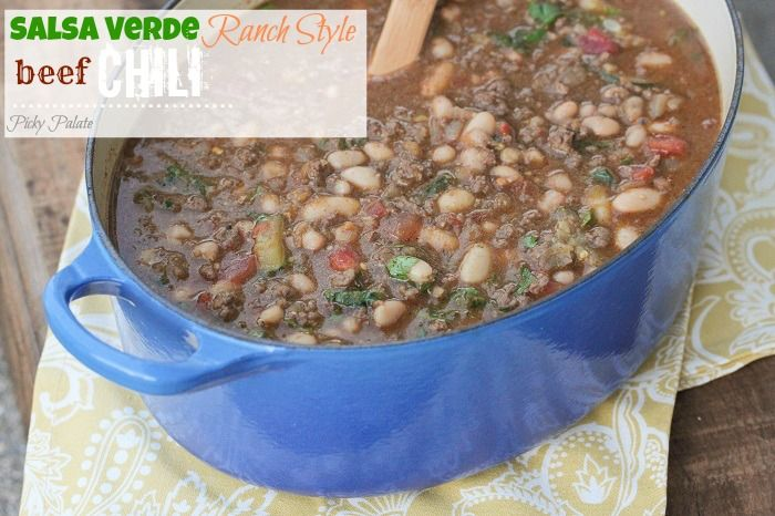Salsa Verde Ranch Style Beef Chili from @Jenny Flake, Picky Palate