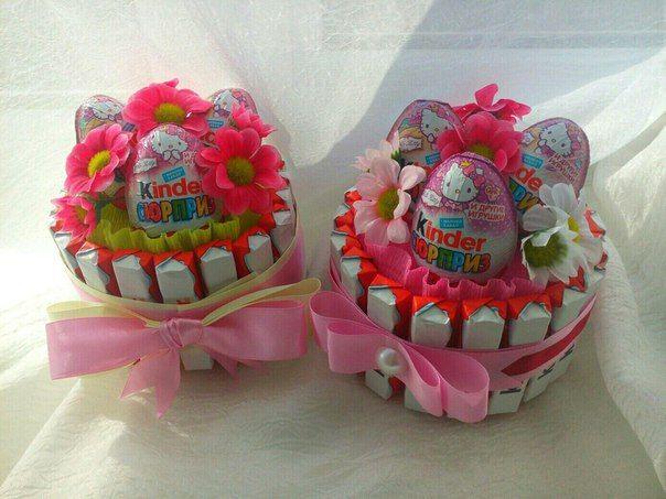 Подарок из конфет своими руками для девочек фото 6