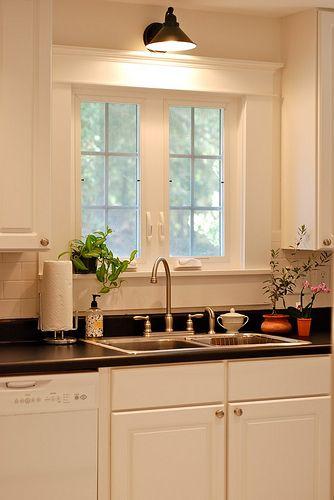 light above kitchen window main floor remodel pinterest. Black Bedroom Furniture Sets. Home Design Ideas