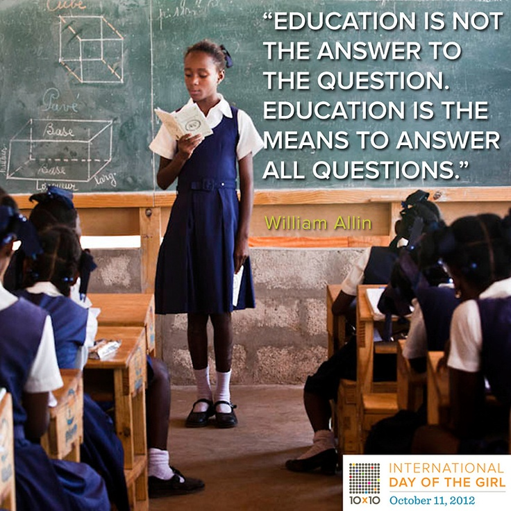 What're your thoughts on education?