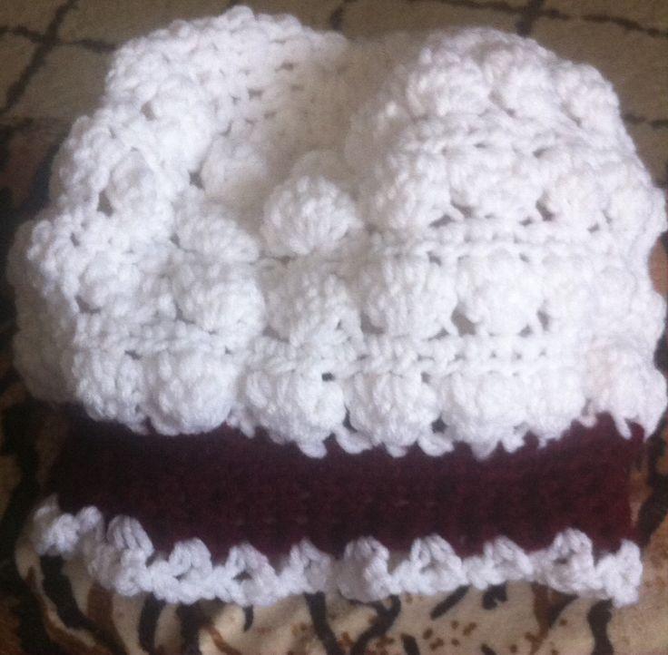 Crochet Stitches Tc : Crochet Puffed Stitch Hat w/Flower crafts Pinterest