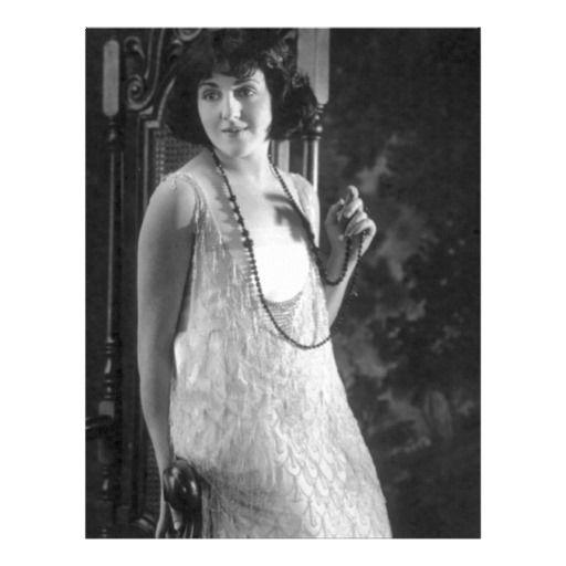 Vintage 1920s Women's Flapper Fashion Custom Letterhead