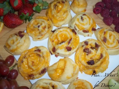 Bacon Cheddar Pinwheels | Crescent Roll | Pinterest