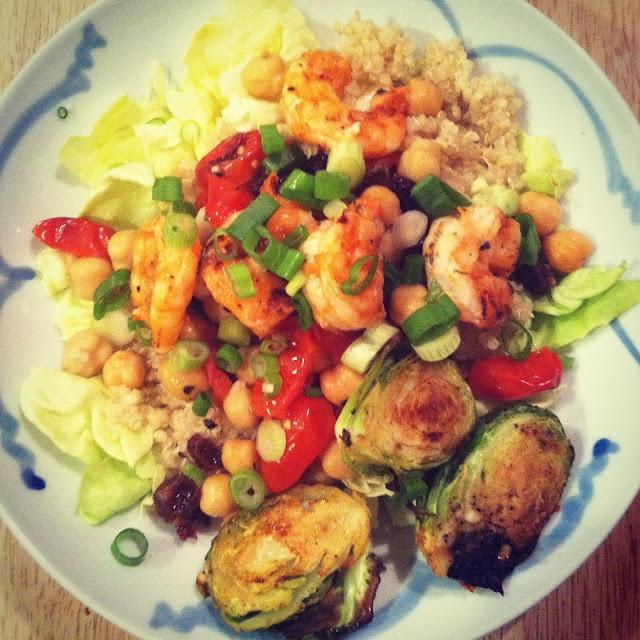 Salad Cups With Quinoa, Shrimp, Avocado & Lemon Dressing ...