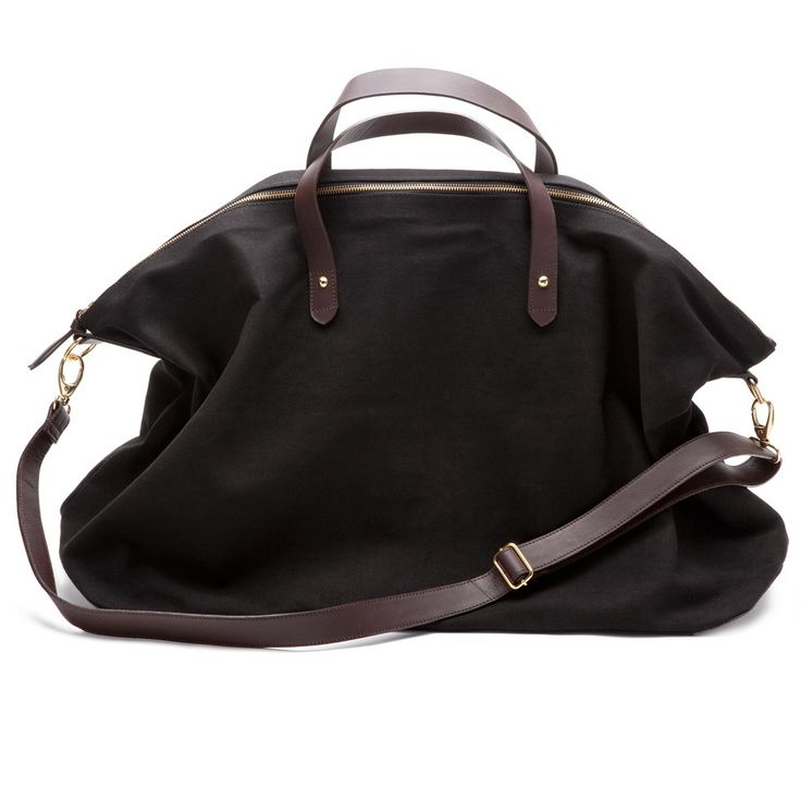 CANVAS AND LEATHER WEEKEND BAG - via Style Moment