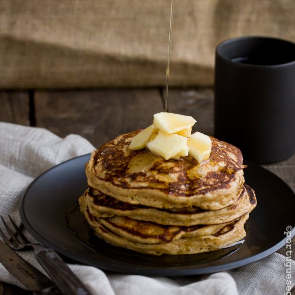 Apple Gingerbread Pancakes with Apple Cider-Maple Syrup | Recipe