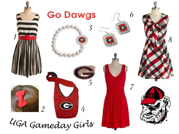 Cute gameday looks for UGA Belles from @GorgeousGameday