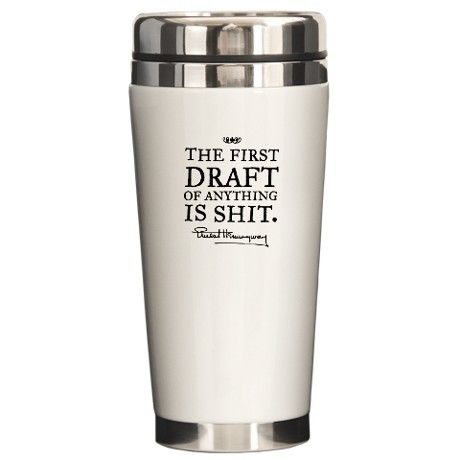Hemmingway First Draft Ceramic Travel Mug