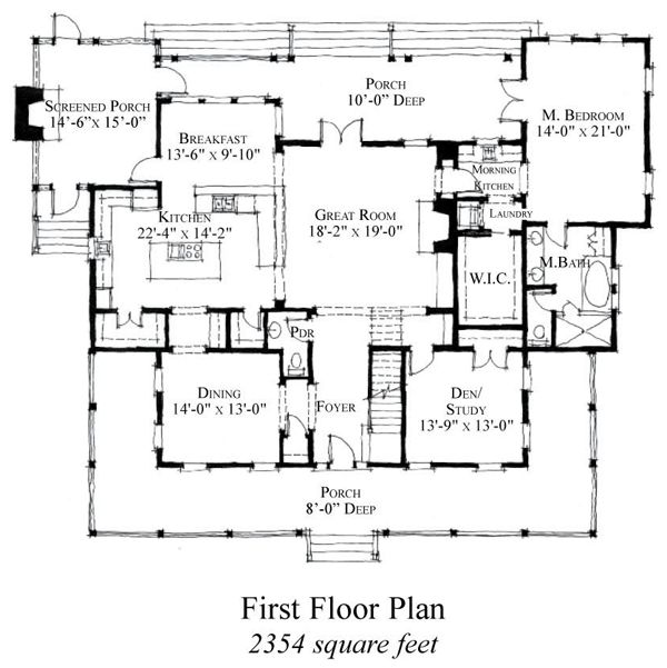 Country historic house plan 73854 for Historic homes floor plans