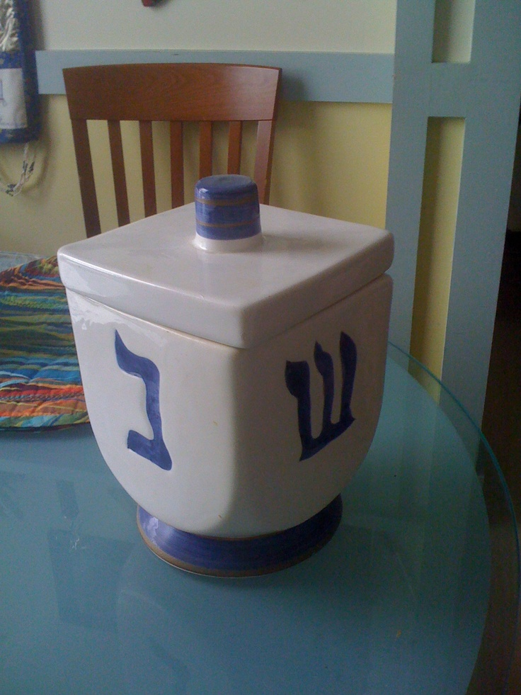 Unique Cookie Jar Shaped Like A Dreidel Hand In The