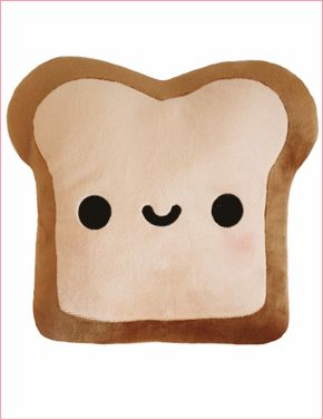 Plush Toast Pillow (double sided). Cute!
