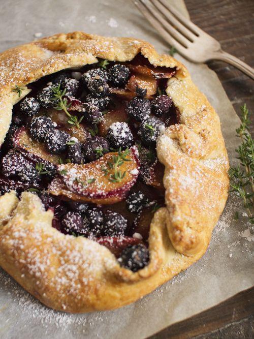 Plum, Blueberry and Thyme Galette | La Boulangerie | Pinterest