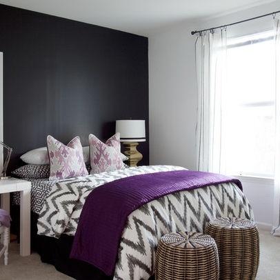 dark walls with purple accents purple pinterest