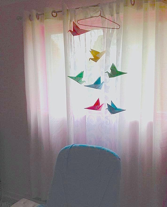 Maison Contemporaine Bois Bretagne : Guirlande Origami Chambre Bébé  origami déco chambre bébé