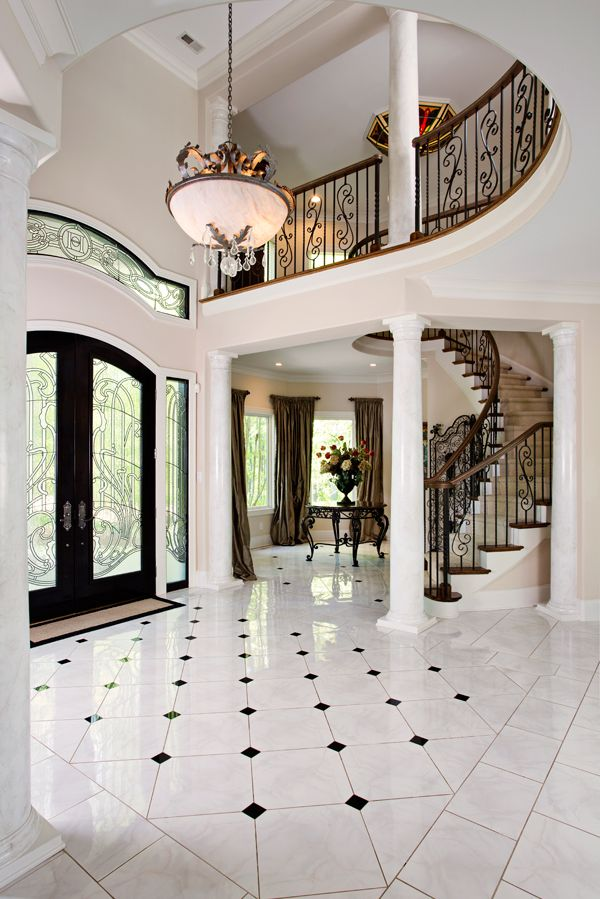 Foyer grand staircase entryway and staircase ideas for Foyer staircase ideas