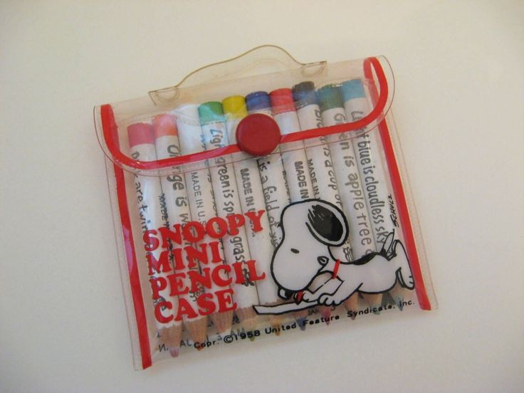 Snoopy Mini Pencil Case. Had one of these.