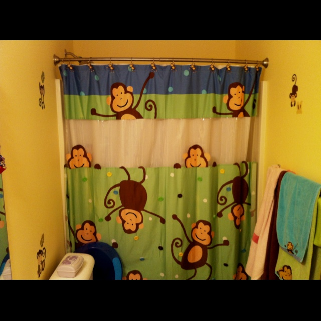 Monkey bathroom theme. | Kids Decor