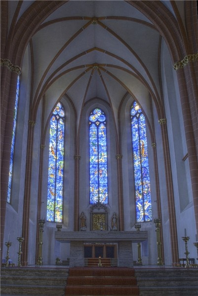 St. Stephen's church, Mainz, Germany, home to stained-glass windows by Marc Chagall.