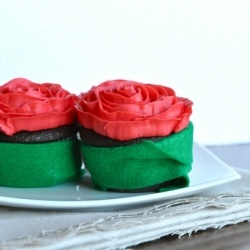 with Rose 'Buttercream' Frosting - substitute coconut milk & 1 T ...