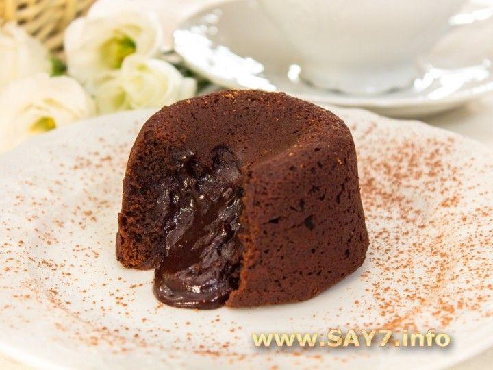 Маффины шоколадные с жидкой начинкой рецепт с пошагово в духовке