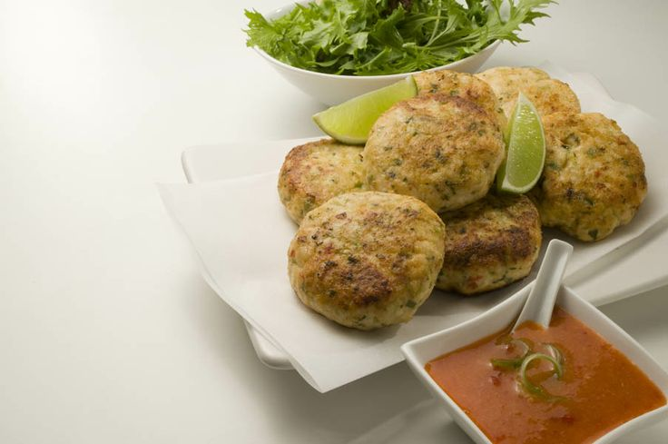 Thai Chicken Fritters with Sweet Chilli & Ginger Sauce