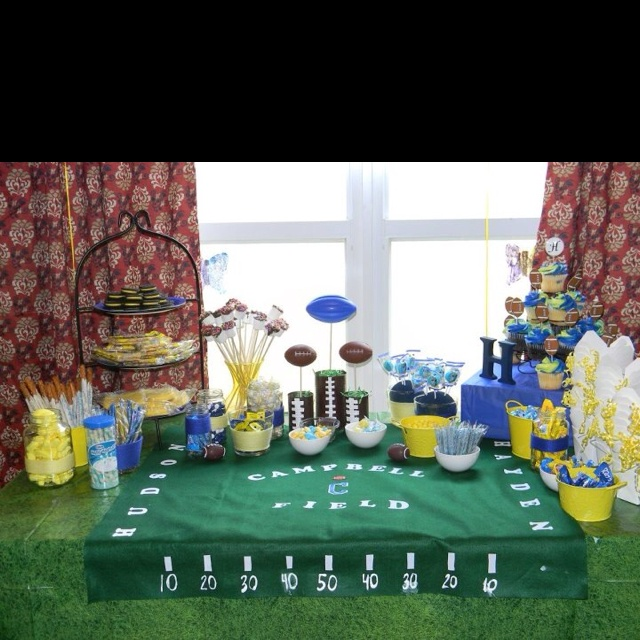 football themed michigan baby shower but i think i am gonna make