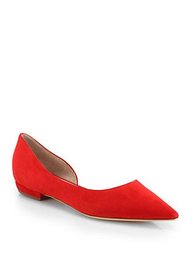 Shop now: Suede d'Orsay Ballet Flats