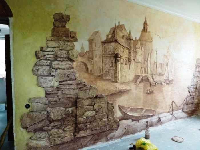 Объемная роспись стен пошаговая инструкция