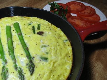 Asparagus Mushroom Frittata | Farmer's Market Recipes | Pinterest