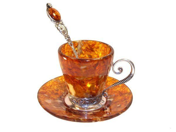 Russian amber tea set tea for two pinterest for Natural stone coffee mugs
