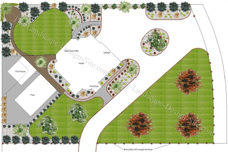 Landscape Design Plans Large Yards