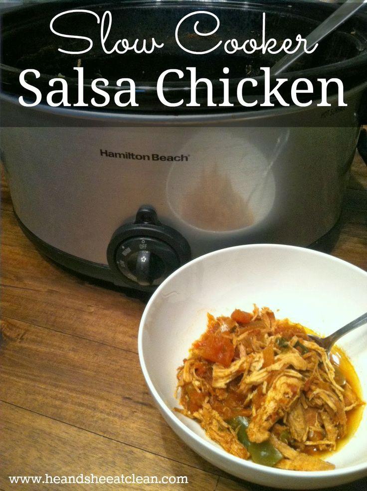 slow cooker salsa chicken | things I like | Pinterest