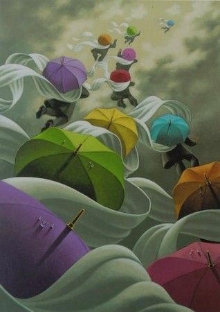 Os chapéus de chuva de Claude Théberge - Vivências
